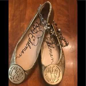 Gorgeous gold Libby Edelman ballet flats❤️